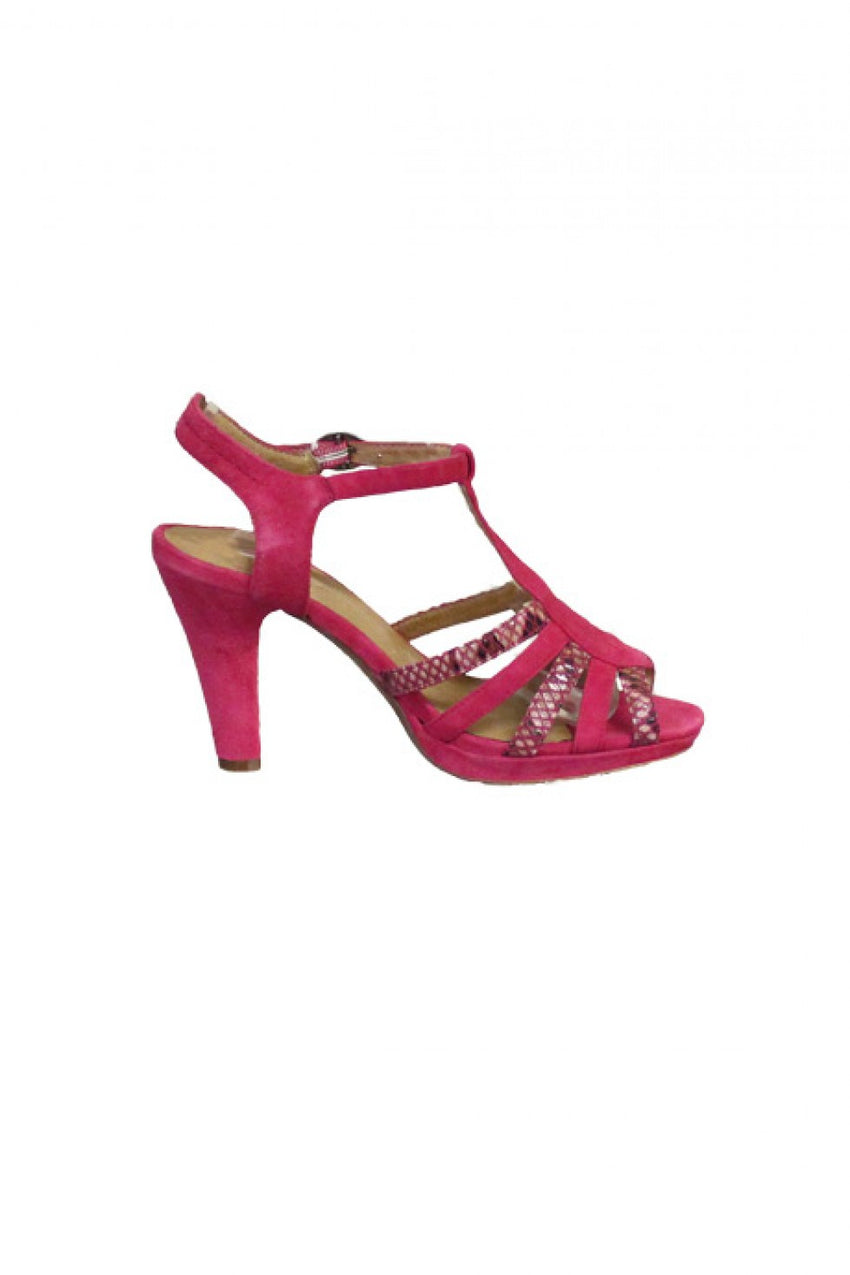 Pink Strappy Karston Sandal Heel Style and Grace