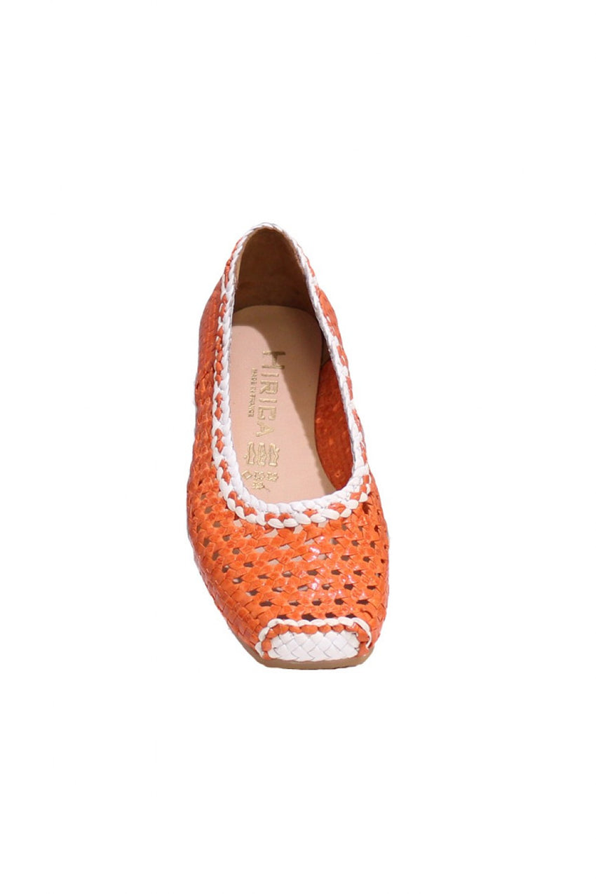 Orange/White-Hirica-Summer-Shoe-style-and-grace