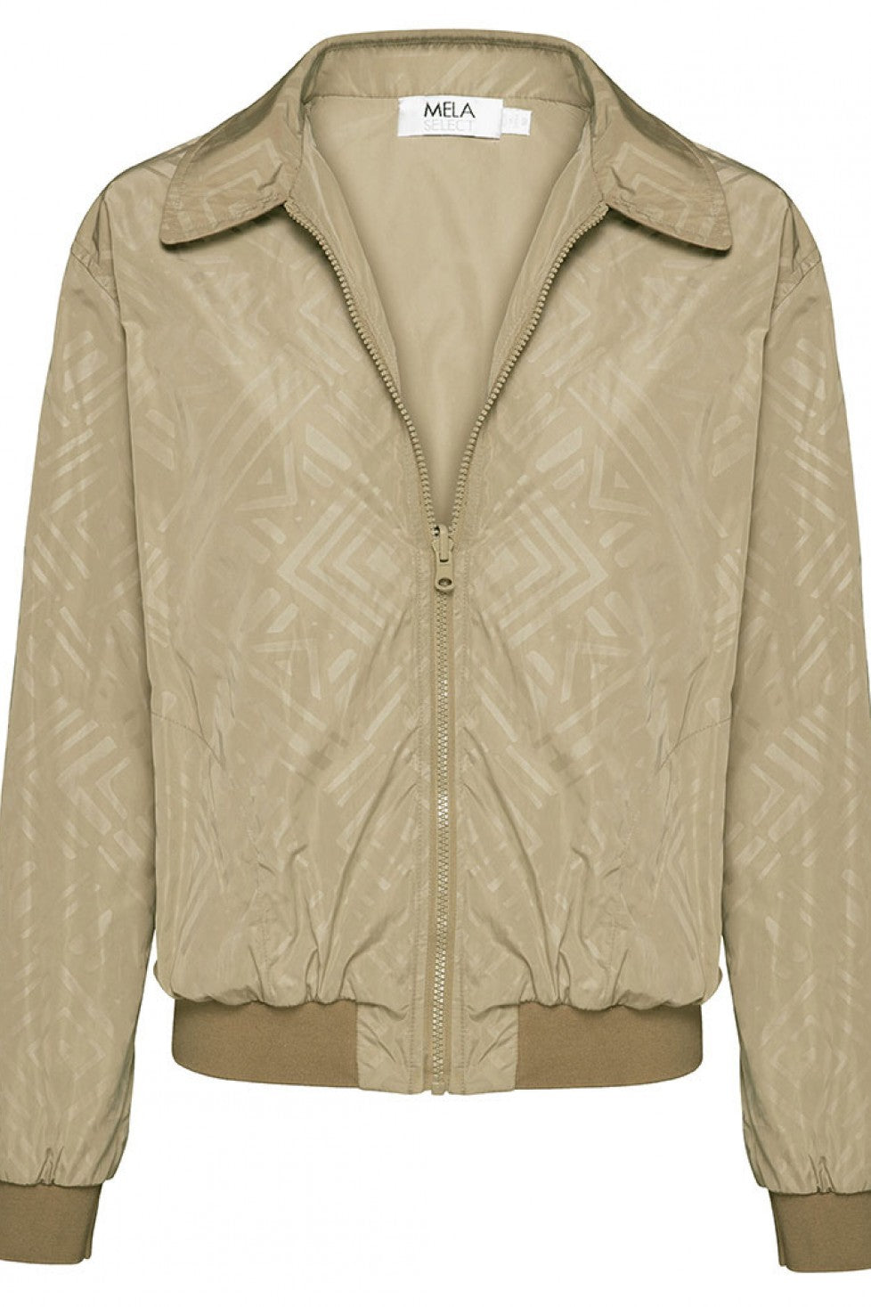 Tan Front Reversible Mela Purdie Bomber Jacket Water Resistant Style and Grace