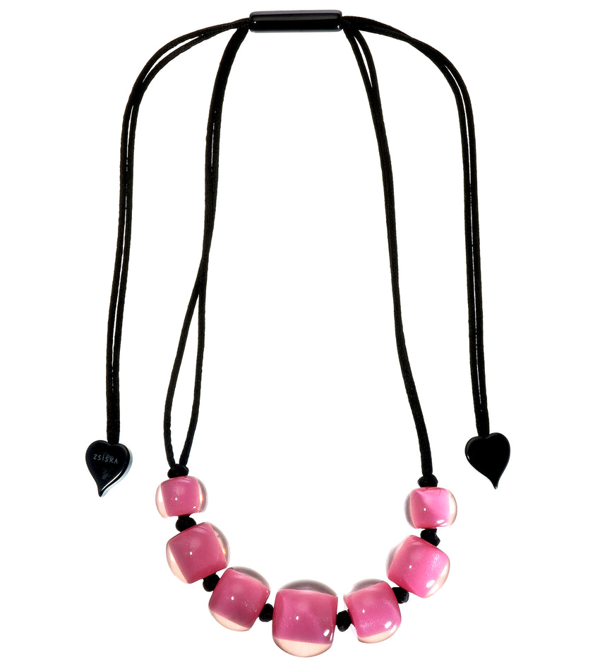 40101219017Q07 Colourful Beads Pink Black 9017 Q07