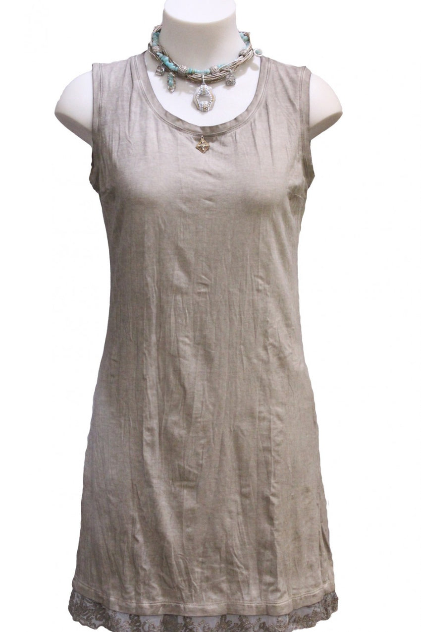 Khaki Simple Elisa Cavaletti Dress Style and Grace