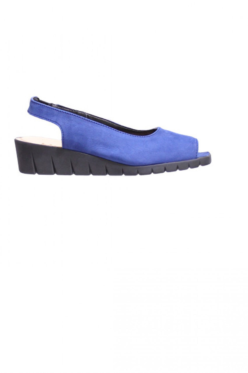 Indigo Peep Toe Hirica Sandal Style and Grace