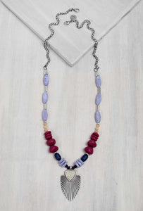 BBN008 Berry Bloom Necklace Purple