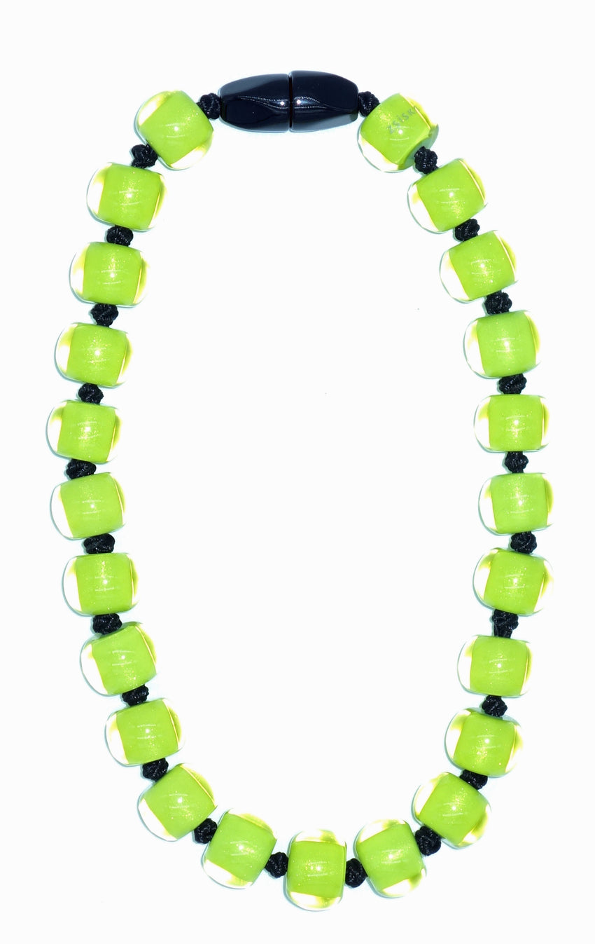40101329019Q23 Colourful Beads Lime Beads Black Cord 9019 Q23