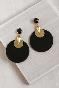 ER079 Packman Earring Black