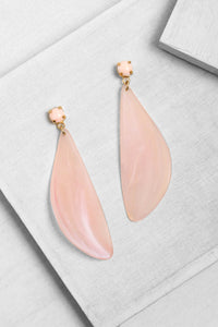 ER210 Flow Leaf Earring Peach