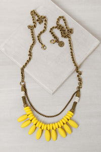 HN002 Havana Drops Necklace Yellow