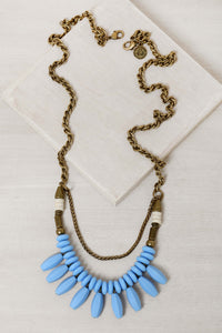 HN004 Havana Drops Necklace Blue