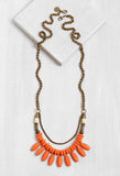HN005 Havana Drops Necklace Orange
