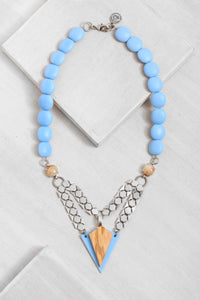 JN003 Blue Nias Necklace