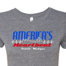 WOMENS America's Heartbeat: Detroit, Michigan Tee