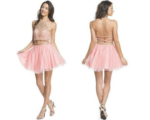 Dazzling Two Piece A-line Homecoming Dress