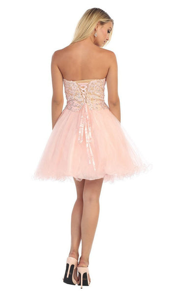 Embellished Sweetheart A-line Cocktail Dress