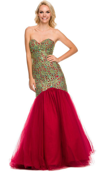 Embellished Sweetheart Mermaid Dress