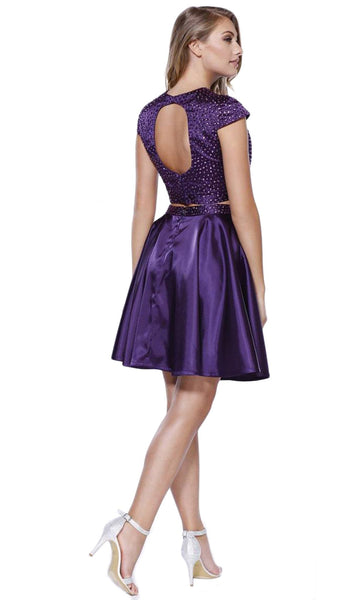 Bejeweled Jewel Neck Dress - ADASA