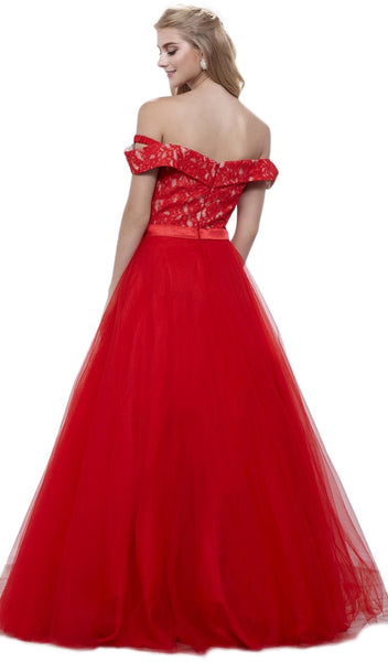 Nox Anabel - 8372 Lace Off-Shoulder Ballgown