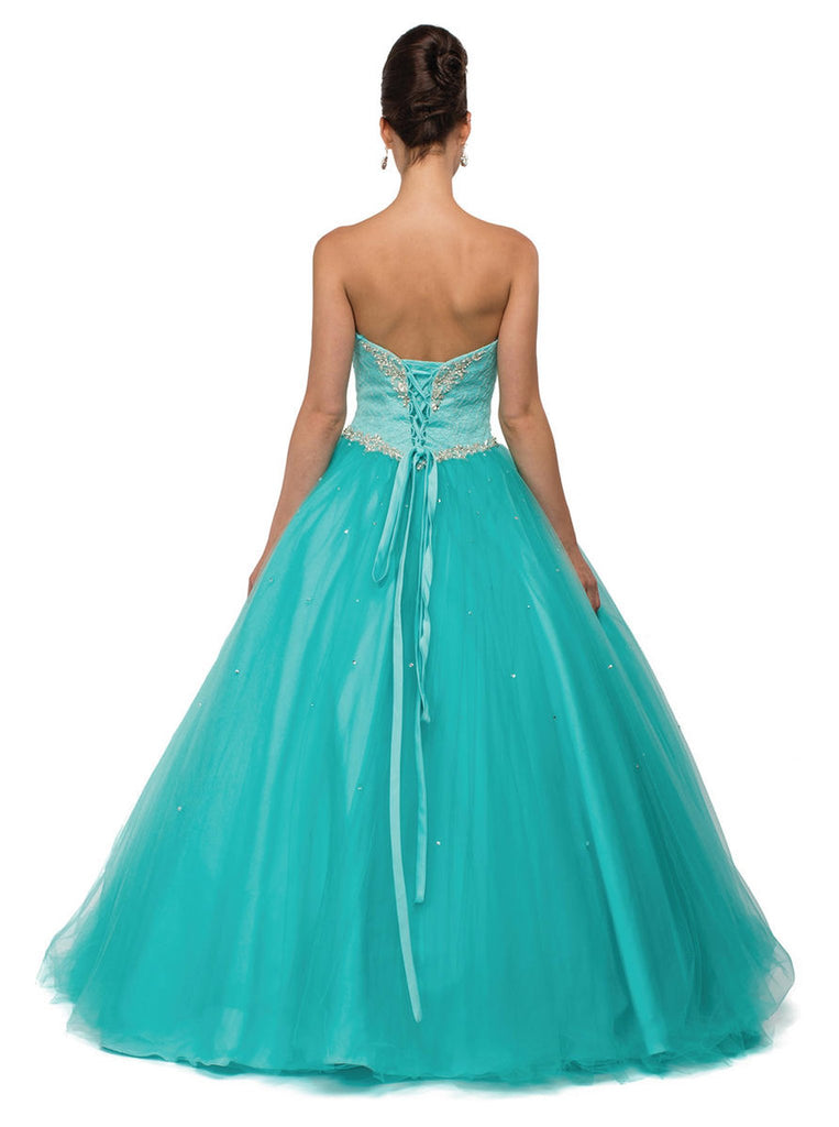 Beaded Sweetheart Quinceanera Ballgown - ADASA