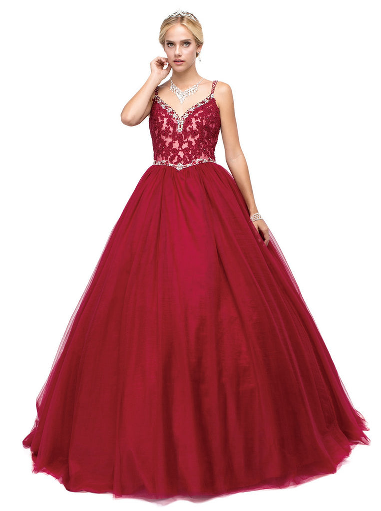 Stunningly Beaded Sweetheart Ball Gown