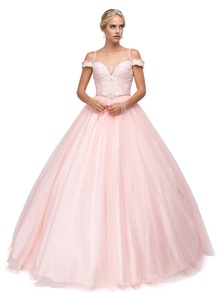 Fabulous Off-Shoulder Beaded Quinceanera Gown