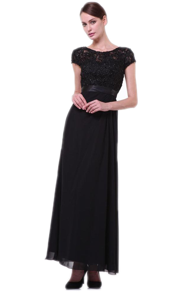 Lace Bateau Neck Sheath Dress