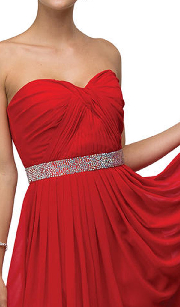 Strapless Ruched Sweetheart Short Cocktail Dress