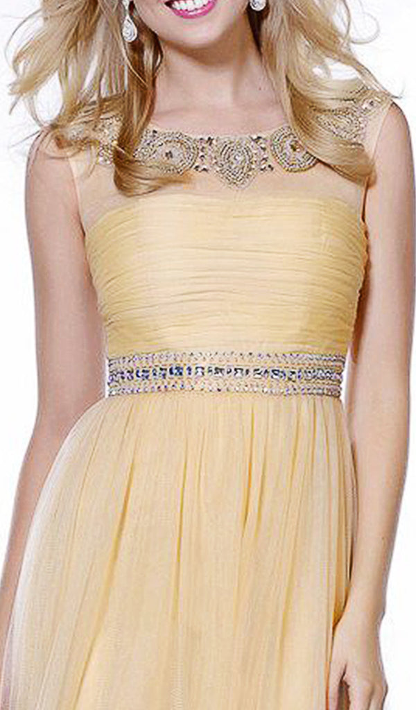 Embellished Bateau A-line Dress - ADASA