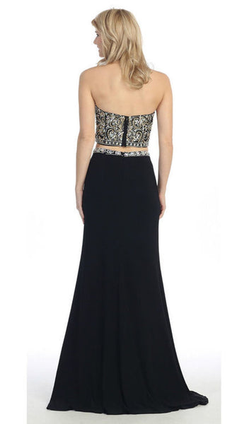 Two-Piece Encrusted Evening Gown