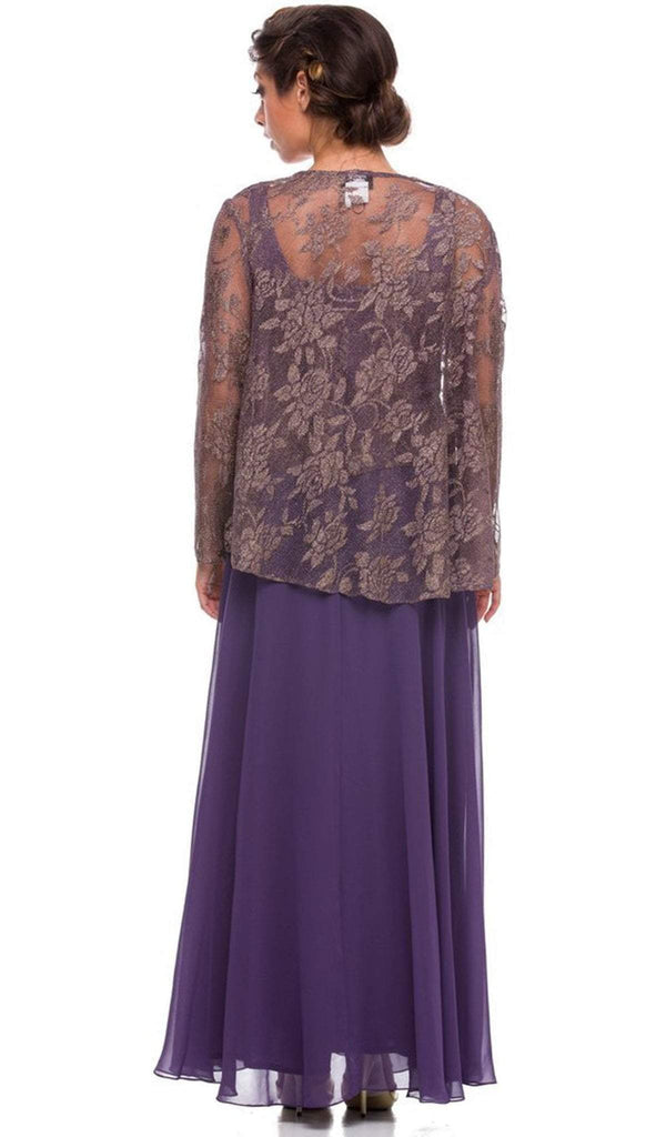Nox Anabel - 5076 Lace Dress with Sheer Jacket