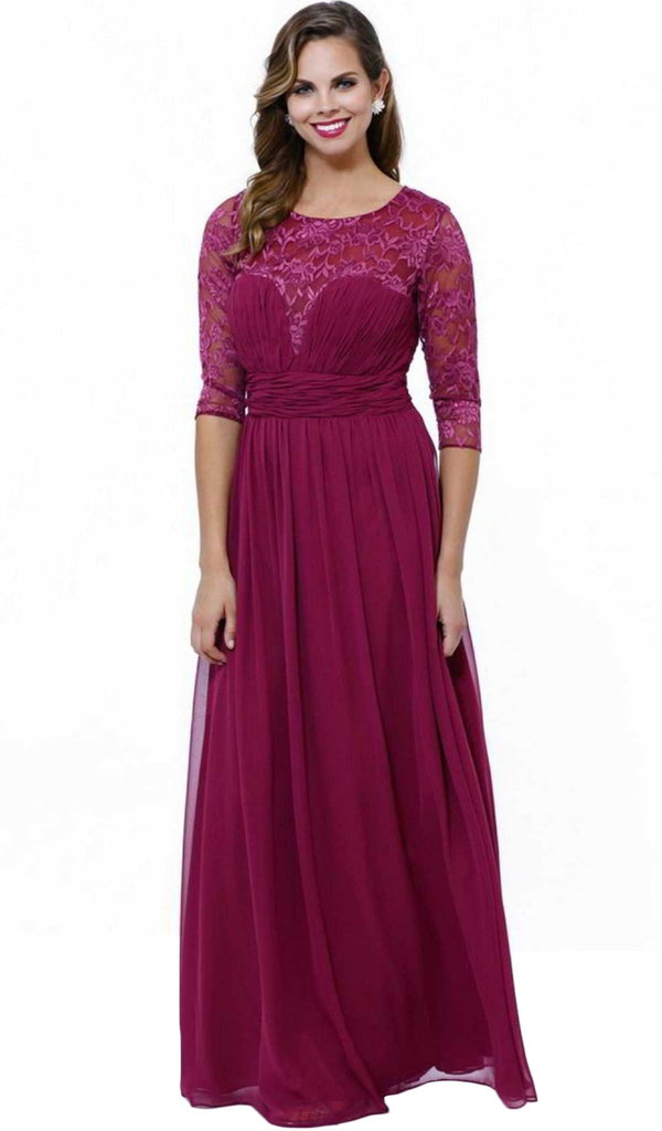 Nox Anabel - 5118 Illusion Sweetheart Long Evening Gown