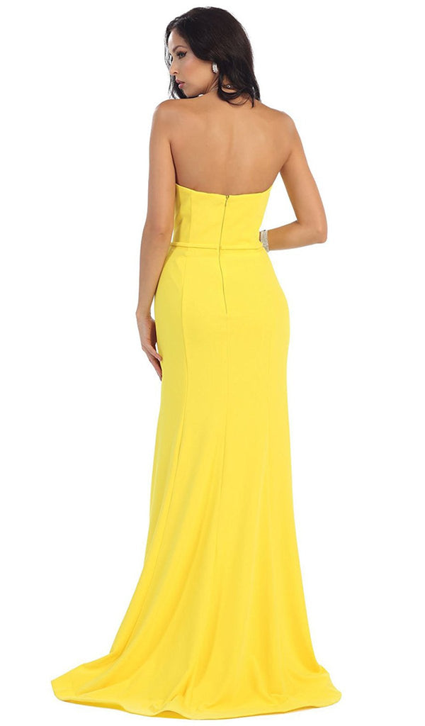 Strapless Sweetheart Trumpet Evening Dress