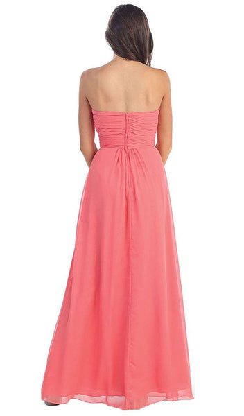 Sophisticated Pleated Sweetheart Chiffon Prom Dress