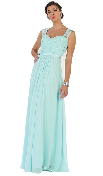 Stunning Embellished Sweetheart Neck Chiffon A-Line Evening Dress