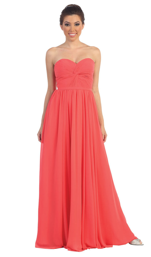Strapless Ruched Sweetheart Corset Prom Dress