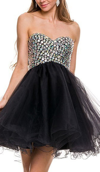 Beaded Sweetheart A-Line Dress