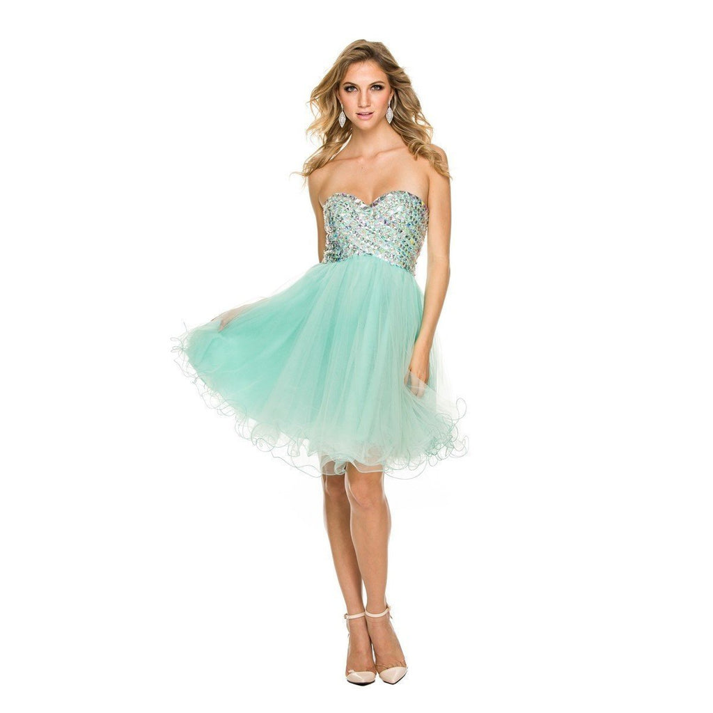 Nox Anabel - 6010 Beaded Sweetheart A-Line Dress