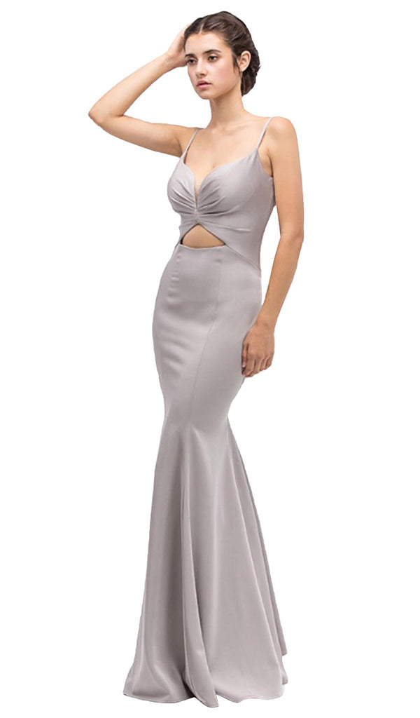 Ruched Sweetheart Satin Sheath Evening Dress