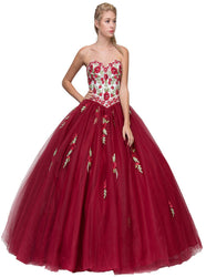 Strapless Sweetheart Twisted Trumpet Prom Gown
