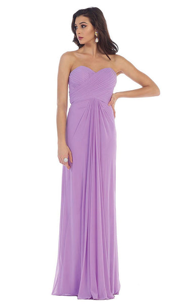 Strappy Pleated Evening Dress