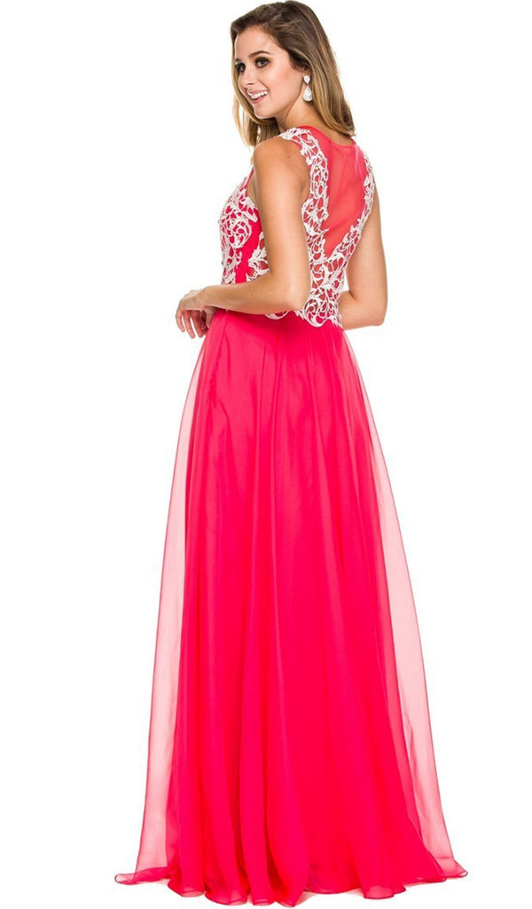 Floor Length Lace Bodice Gown