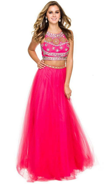 Nox Anabel - 8162 Two Piece Jeweled A-line Dress