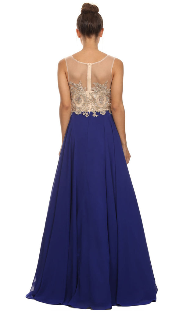 Appliqued Bodice A-Line Gown - ADASA