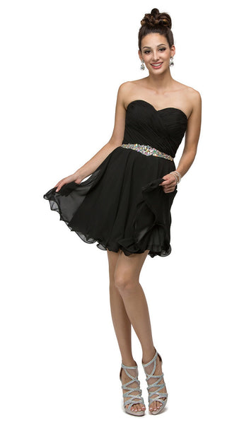 Surplice Sweetheart Bodice Chiffon Prom Dress