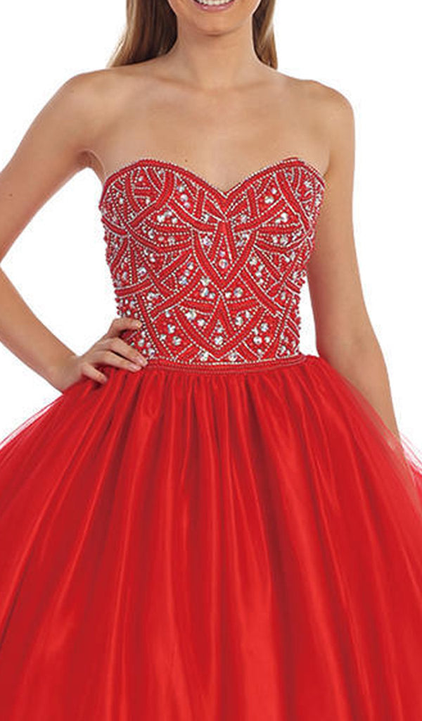 Embellished Sweetheart Quinceanera Gown