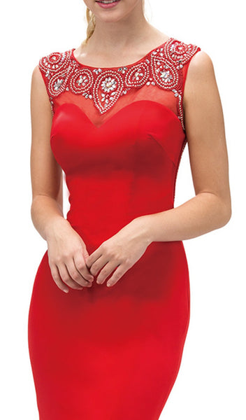 Bejeweled Illusion Evening Dress - ADASA