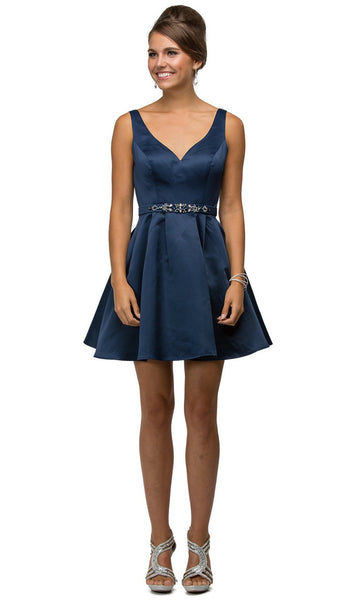 Sleek Sculpted Sweetheart A-Line Satin Cocktail Dress