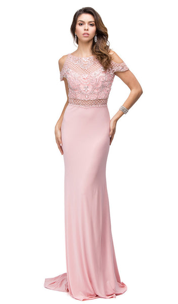 Smart Beaded Bodice Long Prom Dress
