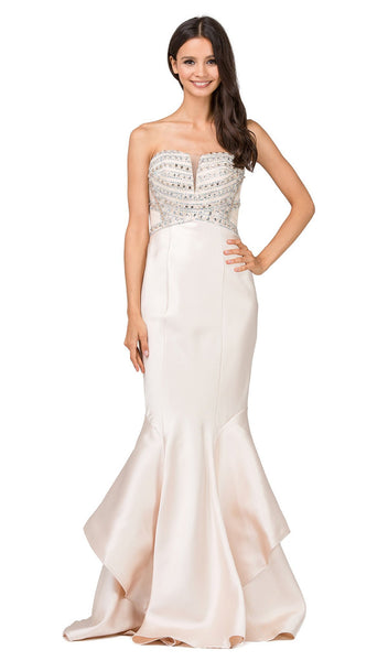 Beaded Sweetheart Mermaid Evening Dress - ADASA