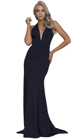 Halter V-neck Sheath Dress