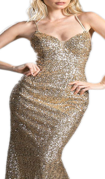 Fully Sequined Sweetheart Sheath Prom Dress