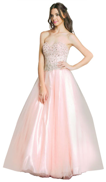 Iridescent Sweetheart A-Line Evening Gown